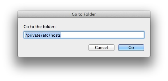 Edit Mac Hosts File OS X