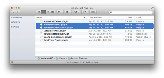 OS X Safari Acrobat PDF Plugins