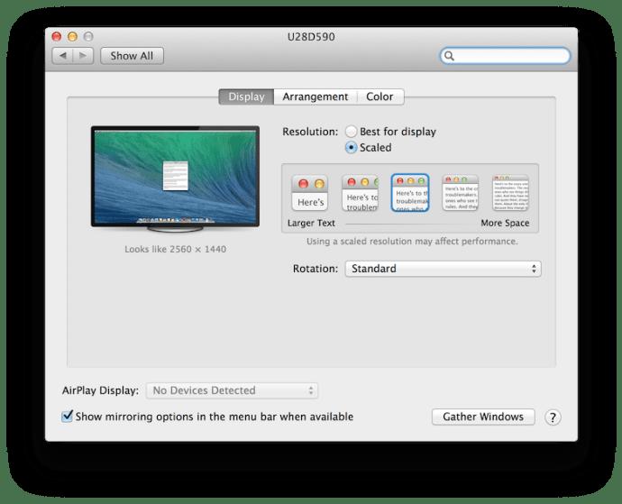 OS X 10.9.3 4K System Preferences
