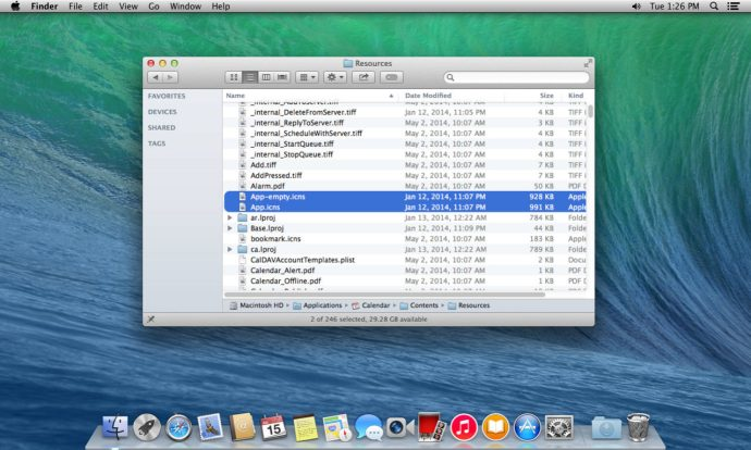 Ändra kalenderikon OS X
