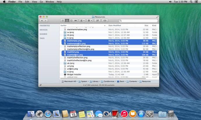 Ändra papperskorgen OS X