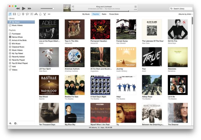 iTunes 12 Playlist Sidebar