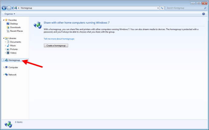 Disable HomeGroup Windows