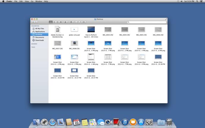 Desktop Icons in Finder OS X