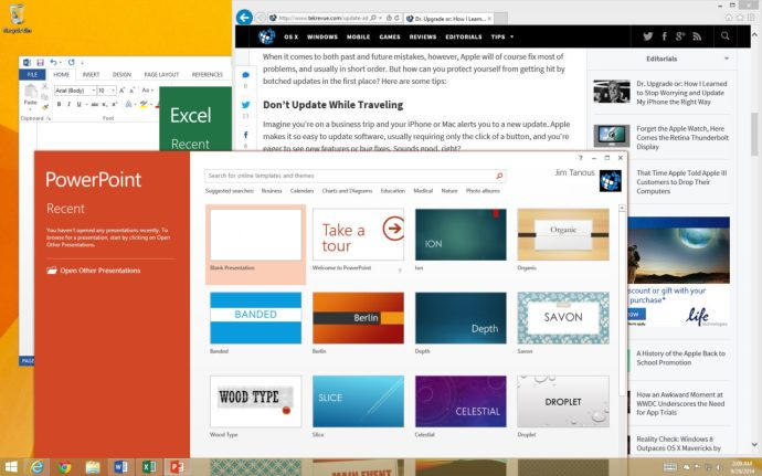 Windows 8.1 Desktop Cluttered