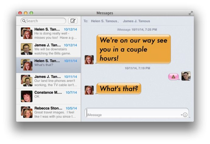 Messages App Mavericks