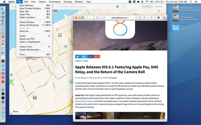 OS X Yosemite Reduce Transparency Effects