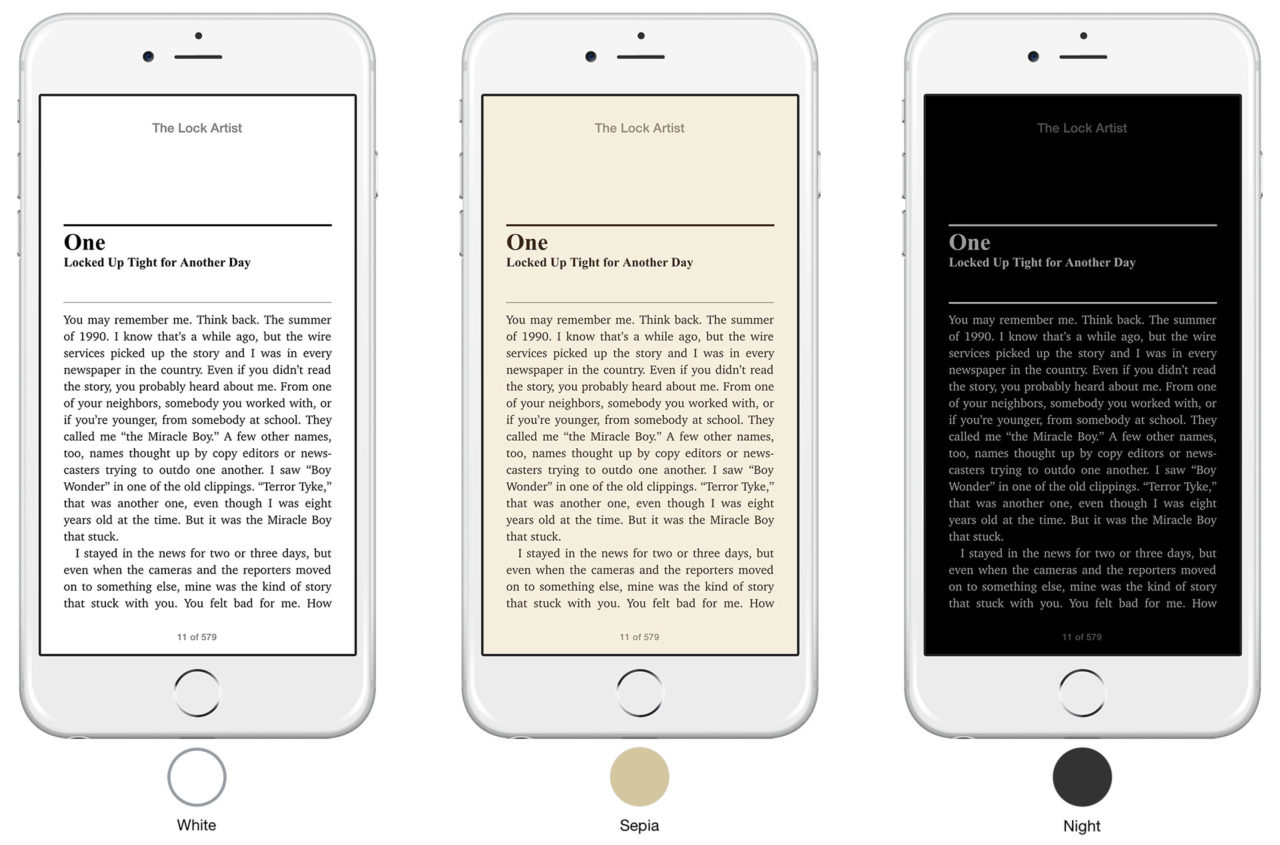 Go Easy on Your Eyes by Enabling the iBooks Auto-Night Theme