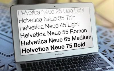 macbook air helvetica neue font