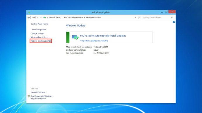 control-panel-restore-hidden-updates