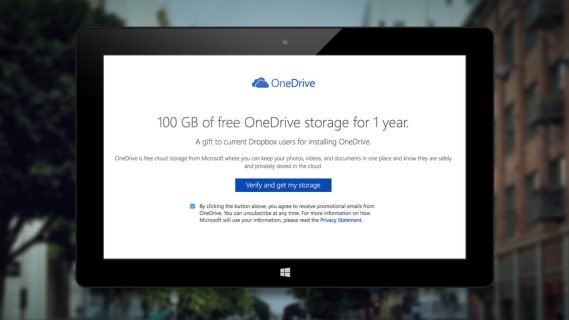 Microsoft Offers Dropbox Users 100GB of Free OneDrive Storage