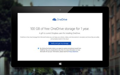 onedrive dropbox free storage