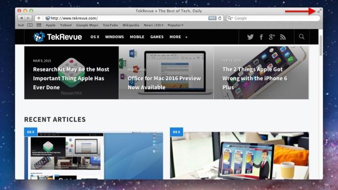 OS X Lion Full Screen Button