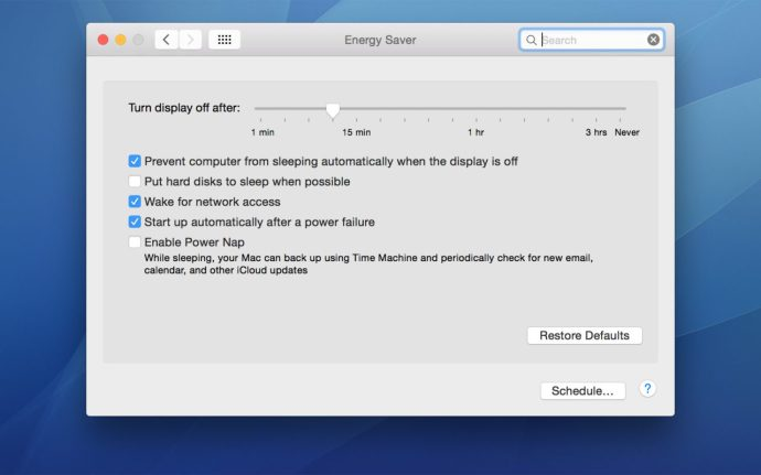 os x sleep settings system preferences