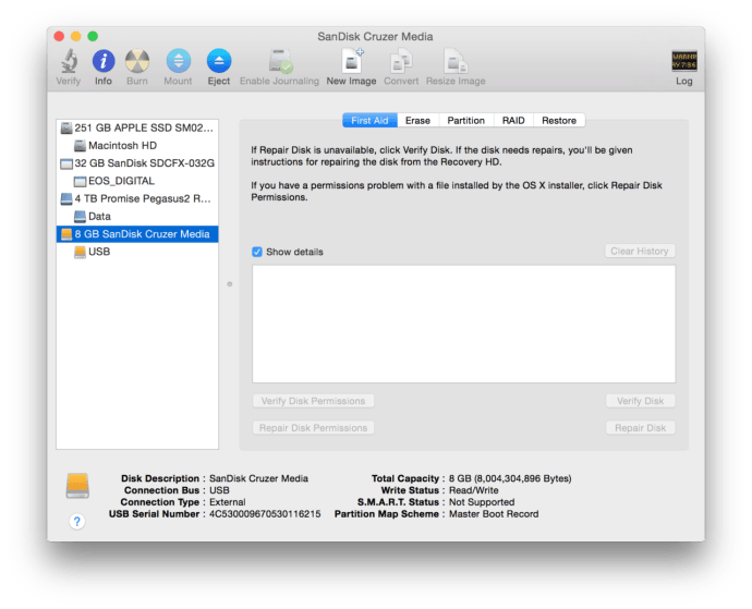 os x disk utility usb drive