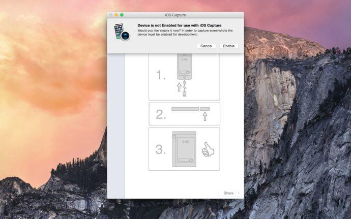 iOS capture screenshot