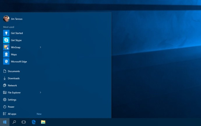 windows 10 empty start menu