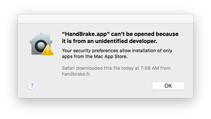 mac os x gatekeeper unidentified developer