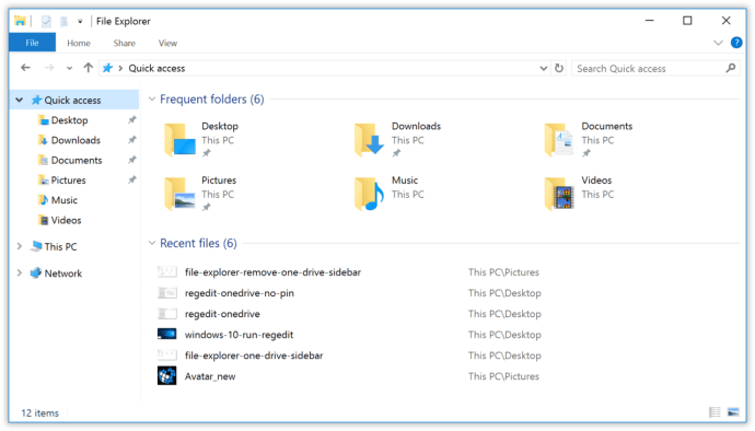 remove onedrive file explorer windows 10
