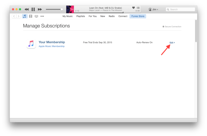 apple music itunes subscription