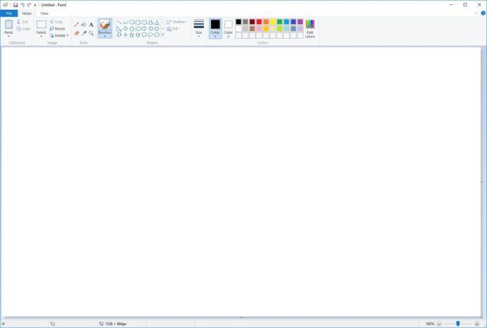 microsoft paint blank image