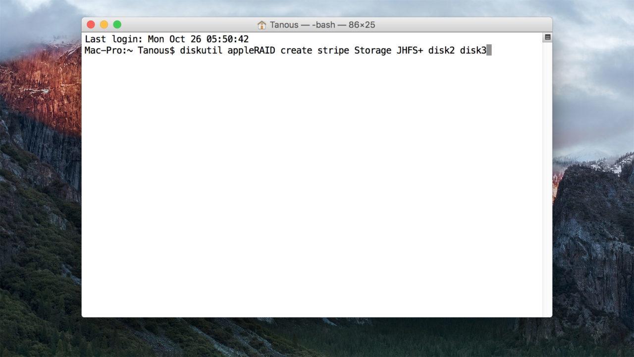 How to Create RAID Volumes in OS X El Capitan