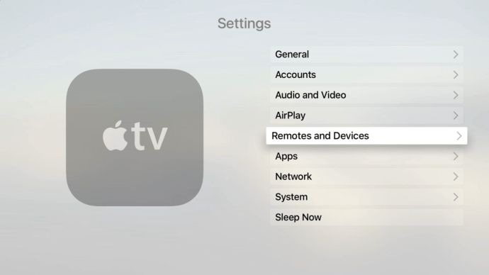 apple tv settings bluetooth and devices