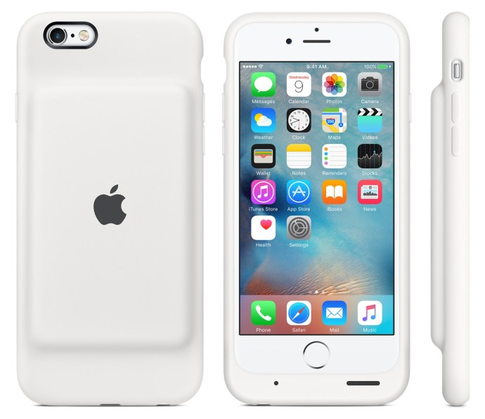 iphone smart battery case white
