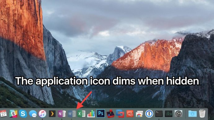 mac app icon hidden dim