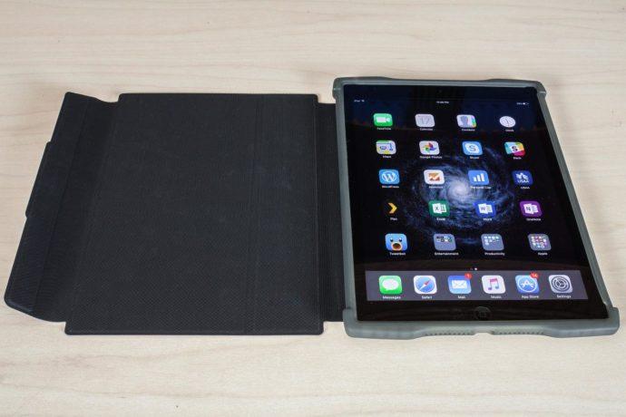 uzbl rugged folio ipad case open