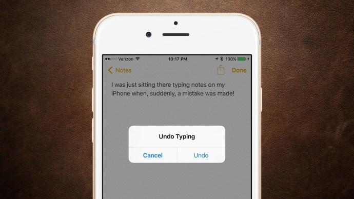 shake to undo iphone