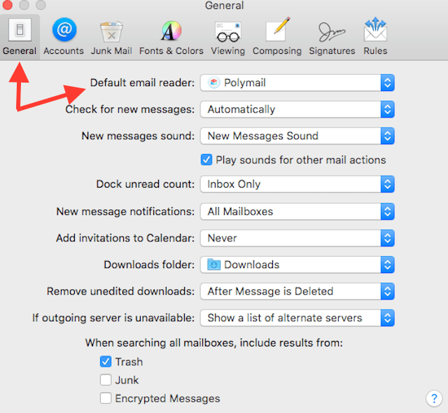 change default OS X email app in OS X final