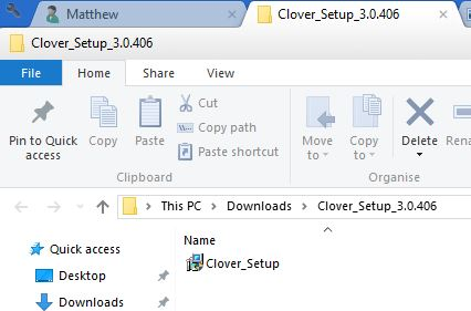 clover file browser
