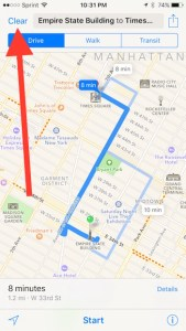 clear out old information in Apple Maps