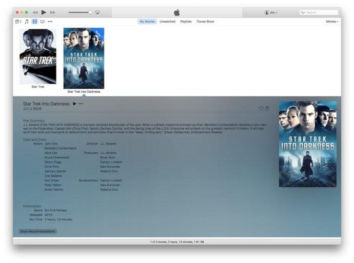 itunes ripped movie metadata