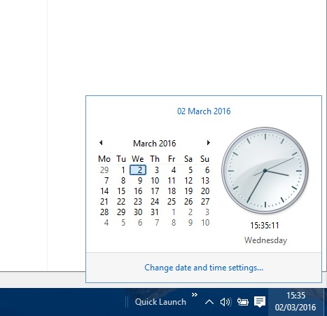 new windows 10 clock