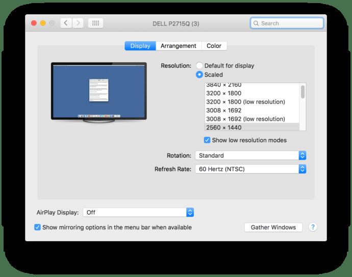 mac os x system preferences custom resolution