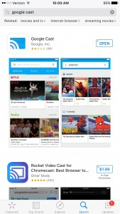Google Cast App iPhone