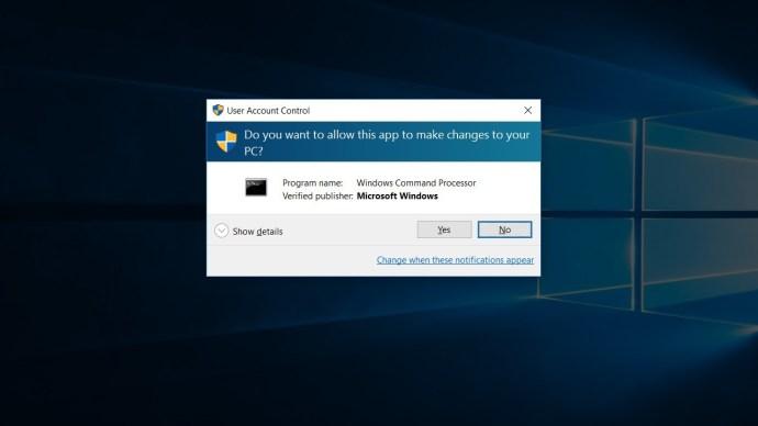windows 10 command prompt admin uac