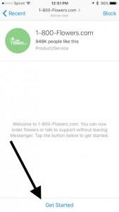 get start with Messenger bot