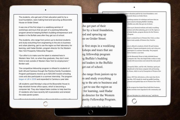 safari reader fonts