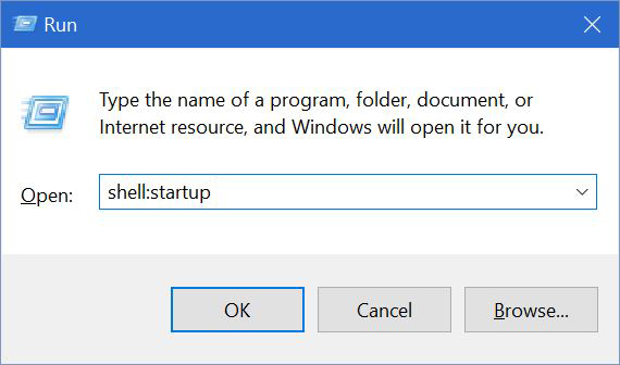 windows 10 user startup folder