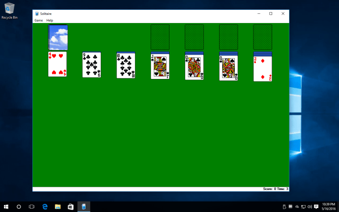 windows xp solitaire windows 10