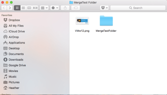 Both Folders Different Content