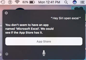 Siri Excel Fail