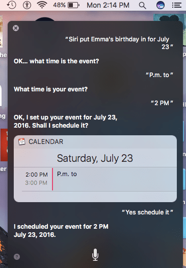 Siri event