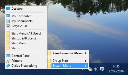 system tray menu5