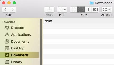 Downloads Sidebar