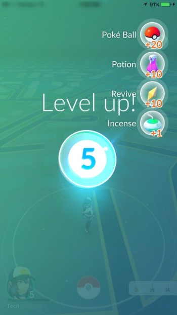 Pokemon Go Level Up