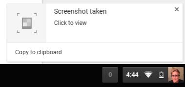 Screenshot aufgenommen Chromebook